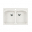 BLANCO White 1-Hole Double Basin Kitchen Sink****SOLD****